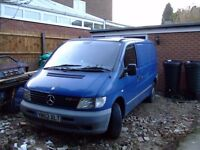 Mercedes Vito 108d, Low mileage, MOT 10.17,