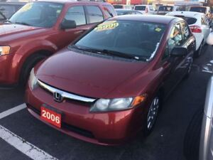 2006 Honda Civic DX-G - A/C, MP3 Player & CD Player