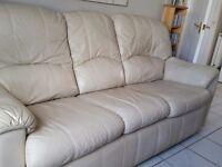 2 x 3 seater leather g-plan sofas
