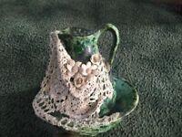 Selection of jug & bowl set , flower vase , fruit bowl