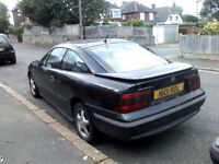 Vauxhall Calibra 16v (1995) classic coupe black body full black leather interior radio cd player