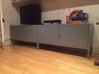 IKEA silver-grey metal storage cabinets x 2