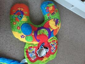 Tummy time activity pillow