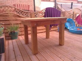 Brand New Handmade Bench Table