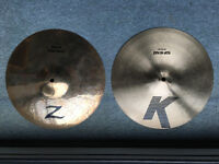 "Zildjian 13"" K/Z Hi Hat Cymbals"