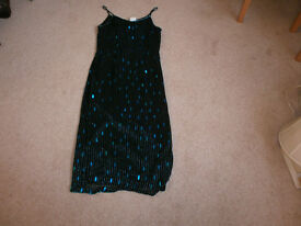 Black Beaded Evening Dress