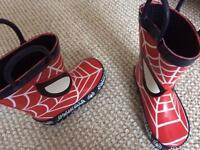 Size 4 new spider man wellies