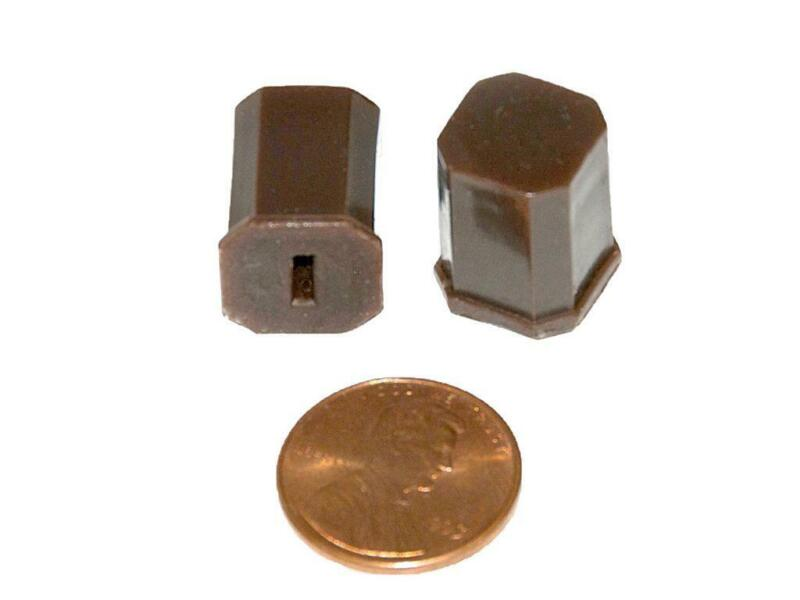 Set of Eight Brown Push Buttons for 1941 Philco Radio