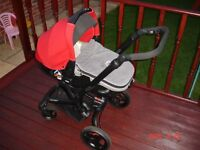 JANE RIDER PUSHCHAIR AND MATRIX LIGHT 2 CAR SEAT TRAVEL SYSTEM