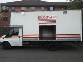 26 YEARS TRADING X RAF FULLY INSURED REMOVALS/MAN AND VAN SERVICE.HUGE SIGN WRITTEN LUTON BOX VAN