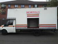 22 YEARS TRADING X RAF FULLY INSURED REMOVALS/MAN AND VAN SERVICE.HUGE SIGN WRITTEN LUTON BOX VAN