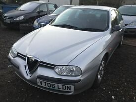 Alfa Romeo 156 silver petrol breaking for parts / spares - all parts available
