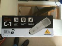 Behringer C1 Studio Condenser Mic with case- still in box and never used - For Sale