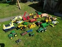 Selection of metalTonka toys