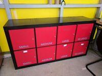 Black IKEA storage unit