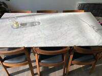Heal's Gioia Dining Table and Profile Chairs