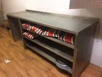 Stainless steel bench with shelves