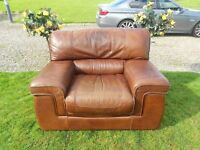 Best Quality Leather Big Comfy Armchair