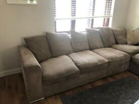 Large furniture village corner sofa with swivel chair