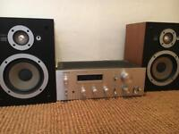 Pioneer SA-508 Stereo Amplifier and Speakers