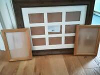 Photo picture frames x 3 immaculate