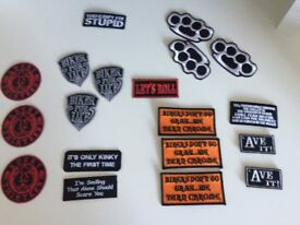approx 19 new biker patches