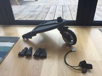 Bugaboo Buggy Board - great condition - adaptors and elastic included