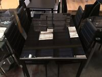 **100% GUARANTEED PRICE!**BRAND NEW-Luxury Temp Glass Dinning Table Set With 4 Or 6 Leather Chairs