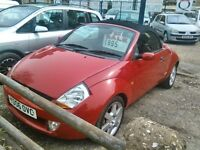 2006 Ford streetka convertible 1.6 petrol very tidy car inside and out full black leather interior