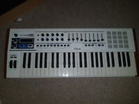 Music production bundle, midi keyboard with usb interface and production desk.