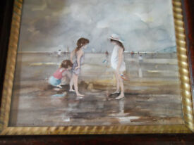 "WATERCOLOUR ""CHILDREN ON THE BEACH"""