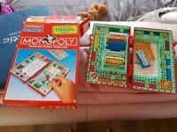 Travel monopoly set