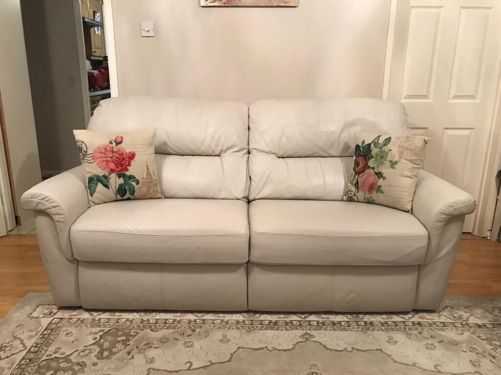 Cream Leather Sofa Set G Plan In Wootton Northamptonshire Gumtree