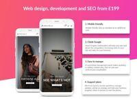 Manchester web design, development, SEO from £199 - get online in 7 days