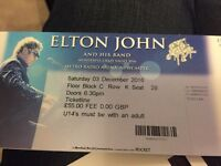 2 seats together Elton John Newcastle arena tomorrow £55 ea face, will accept less and drop off tomo