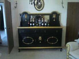 Beautiful black and gold guild sideboard