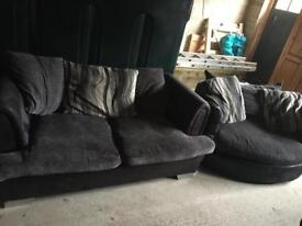 DFS Shannon 2 seater sofa and 2 seater cuddle chair