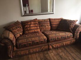Marks & Spencers Egyptian print 2 piece sofa used but good condition from a smoke free home