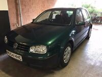 Mk4 VW Golf 1.6, 5 door, Petrol (2000), Good Condition, Extensive History.