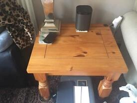 Solid pine lamp table