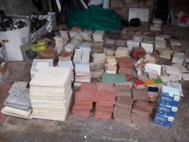 Wall Tiles & Floor Tiles, Many Types & Colours- 10p per tile