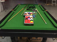 Pool/snooker table 6x3 feet