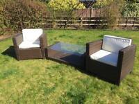 Rattern garden furniture