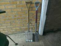STAINLESS STEEL FORK AND SPADE