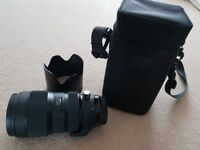 Sigma Art 50-100mm, F1.8 DC HSM. Canon fit. Nearly new. perfect condition.