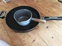 FREE heavy frying pan and milk pan