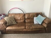 Sofa & footstall free to collect