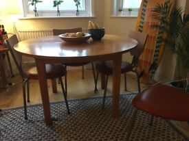 Scandi warm wood extendable table