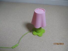 Pink IKEA flower lamp