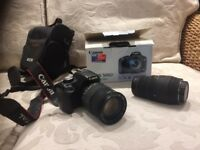 Canon 500D Digital camera +200mm Zoom lense. Hardly used,